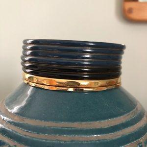 8 JCrew resin bangles
